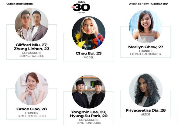 Châu Bùi vào danh sách Under 30 châu Á của Forbes - Ảnh 1.