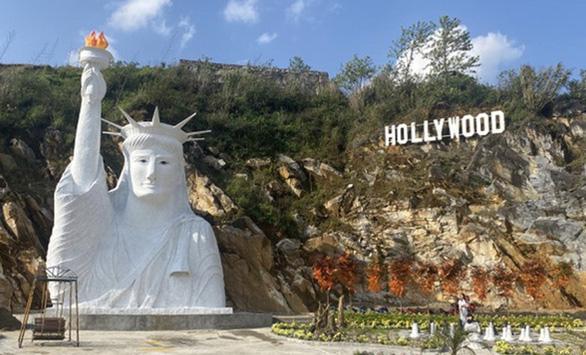 Kiểm tra tượng Nữ thần Tự do kỳ dị ở Sa Pa - Ảnh 1.