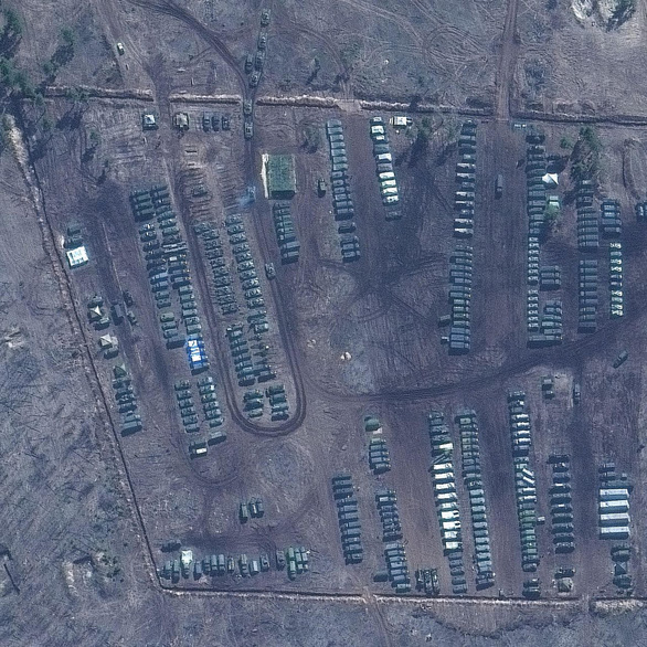 Ảnh vệ tinh tiết lộ khí tài Nga triển khai gần Ukraine - Ảnh 4.