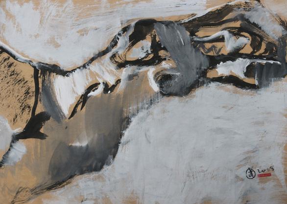 Ngắm ký họa khỏa thân người nước ngoài của họa sĩ Nguyễn Dương Đính - Ảnh 2.