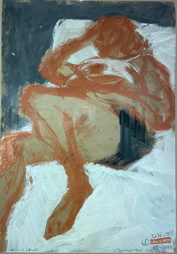 Ngắm ký họa khỏa thân người nước ngoài của họa sĩ Nguyễn Dương Đính - Ảnh 4.