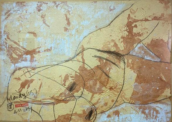 Ngắm ký họa khỏa thân người nước ngoài của họa sĩ Nguyễn Dương Đính - Ảnh 5.