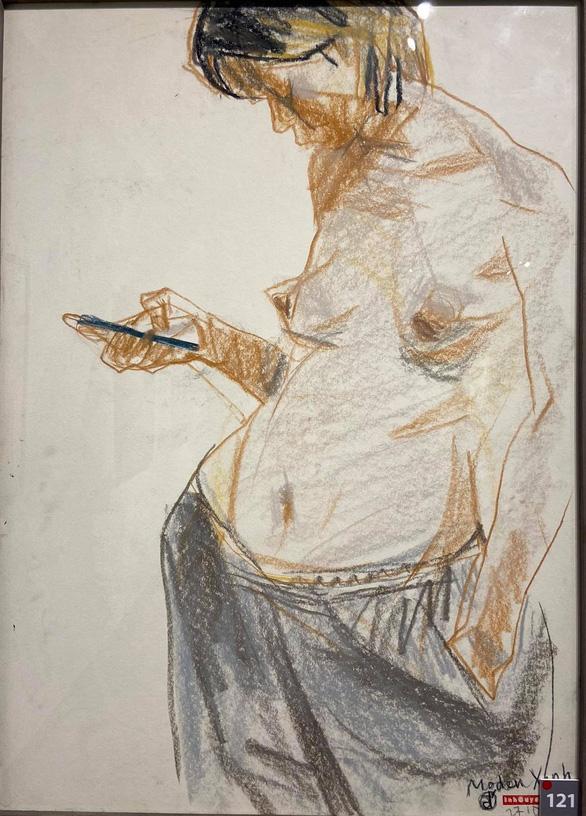 Ngắm ký họa khỏa thân người nước ngoài của họa sĩ Nguyễn Dương Đính - Ảnh 6.