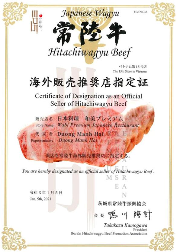 Wabi Premium có được chứng nhận nhập bò Hitachi chính thức từ Nhật Bản - Ảnh 1.