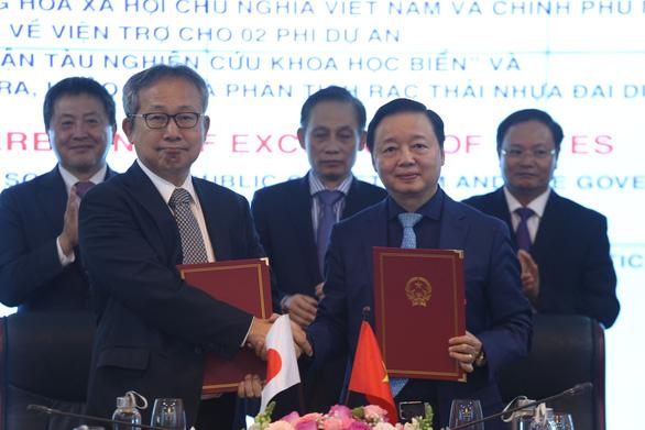 Nhật Bản viện trợ tàu nghiên cứu khoa học biển cho Việt Nam - Ảnh 1.
