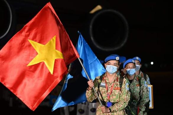 Đoàn quân mũ nồi xanh của Việt Nam từ Nam Sudan đã trở về - Ảnh 1.