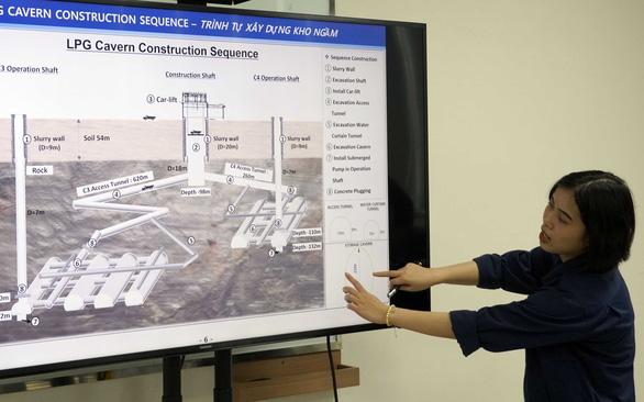 Xuống kho ngầm lớn nhất Đông Nam Á đang xây dựng ở Việt Nam, sâu 200m so với mực nước biển - Ảnh 2.