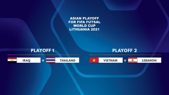 Tuyển Việt Nam tránh được Thái Lan tại play-off tranh vé dự Futsal World Cup - Ảnh 1.