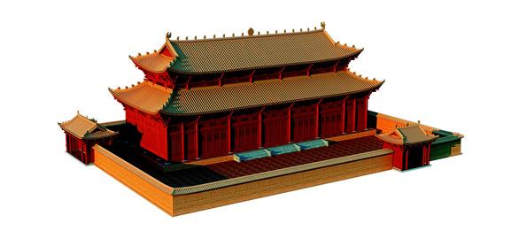 Hoàng cung Thăng Long thời Lý nguy nga qua hình ảnh phục dựng 3D - Ảnh 1.