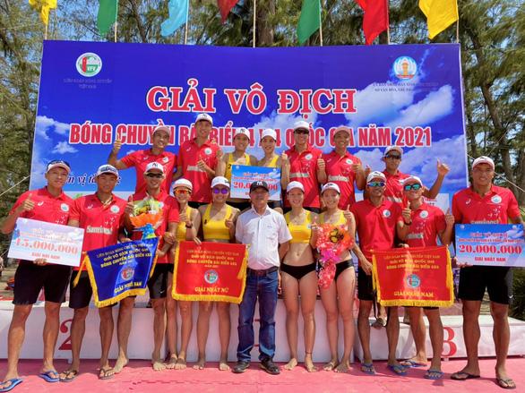 Giải Bóng chuyền bãi biển quốc gia 2021: Đội nam, nữ Sanvinest Khánh Hòa vô địch - Ảnh 1.