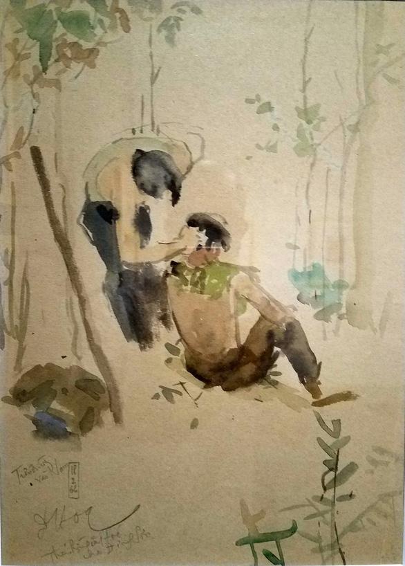 Những hình ảnh một thời họa sĩ sáng tác dưới mưa bom bão đạn - Ảnh 6.