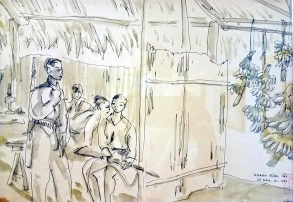 Những hình ảnh một thời họa sĩ sáng tác dưới mưa bom bão đạn - Ảnh 8.