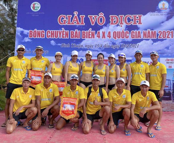 Giải Bóng chuyền bãi biển quốc gia 2021: Đội nam, nữ Sanvinest Khánh Hòa vô địch - Ảnh 3.