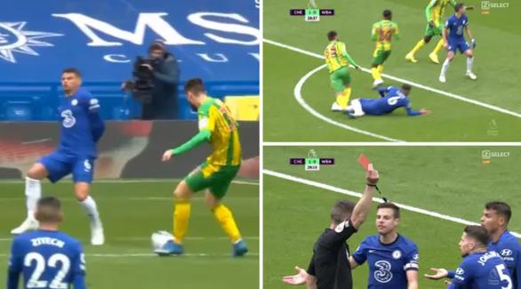 Thiago Silva bị thẻ đỏ, Chelsea thảm bại trước West Brom - Ảnh 2.