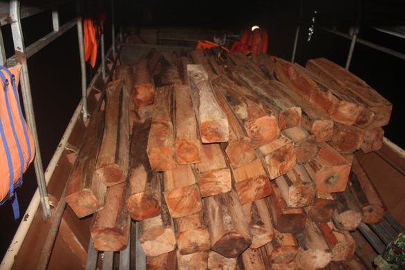 Phát hiện bãi gỗ lớn chìm dưới lòng hồ Sê San - Ảnh 1.