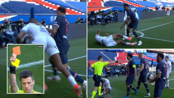 Neymar lại gây chuyện và bị thẻ đỏ, PSG thua đại kình địch Lille - Ảnh 1.