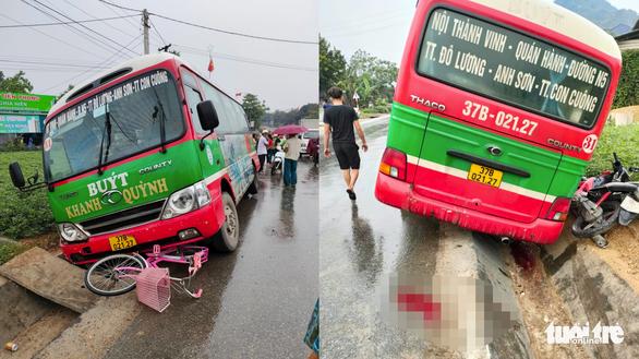 Xe buýt tông chết bé gái lớp 5 trên đường đi học - Ảnh 1.