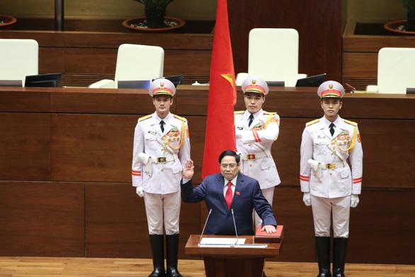 Ông Phạm Minh Chính tuyên thệ nhậm chức Thủ tướng Chính phủ - Ảnh 1.