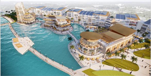 Xây dựng đại trung tâm thương mại trên mặt nước tại Ecopark - Ảnh 1.