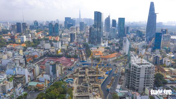 Metro số 1 sắp trả mặt bằng đường Lê Lợi, TP.HCM gấp rút thiết kế cảnh quan - Ảnh 1.