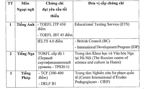 Những trường hợp được miễn thi ngoại ngữ kỳ thi tốt nghiệp THPT - Ảnh 2.