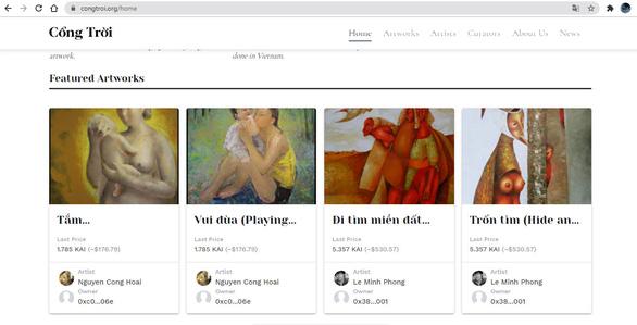Sàn NFT ra mắt: Nghệ thuật Việt có bị thổi bong bóng? - Ảnh 1.