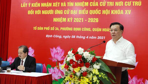 Cử tri tín nhiệm Bí thư thành ủy Hà Nội Đinh Tiến Dũng ứng cử đại biểu Quốc hội - Ảnh 1.