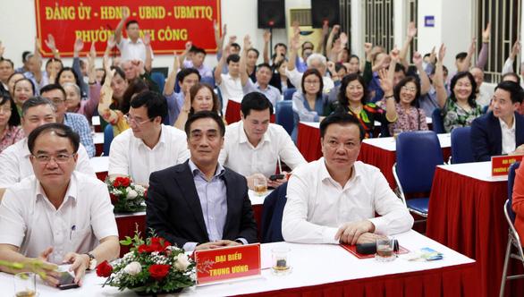 Cử tri tín nhiệm Bí thư thành ủy Hà Nội Đinh Tiến Dũng ứng cử đại biểu Quốc hội - Ảnh 2.