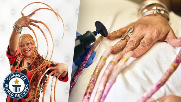 Nữ hoàng móng tay cắt bỏ bộ móng lập kỷ lục Guinness thế giới - Ảnh 2.