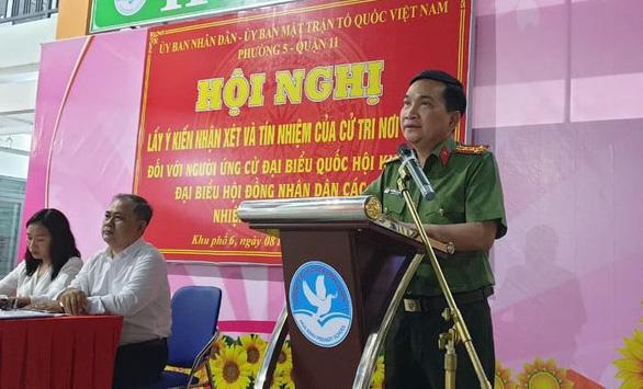 Phó giám đốc Công an TP.HCM được 100% cử tri tín nhiệm ứng cử đại biểu Quốc hội - Ảnh 1.