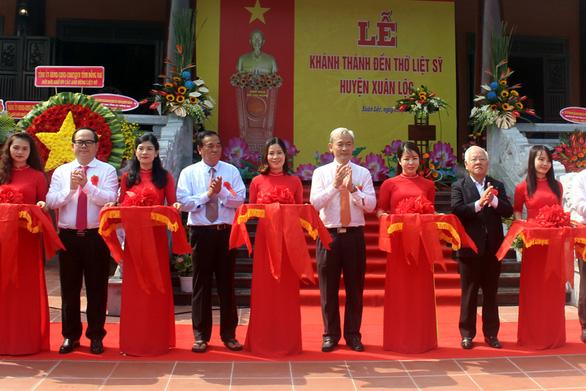 Khánh thành đền thờ liệt sĩ rộng gần 21.000m2 tại Xuân Lộc, Đồng Nai - Ảnh 1.