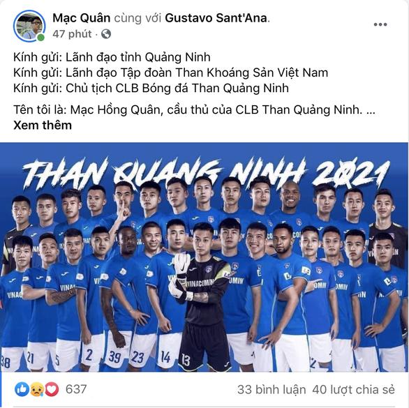 Các cầu thủ Than Quảng Ninh lại kêu cứu vì bị nợ lương, thưởng - Ảnh 3.