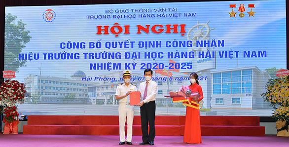 PGS.TS Phạm Xuân Dương làm hiệu trưởng ĐH Hàng hải Việt Nam - Ảnh 1.