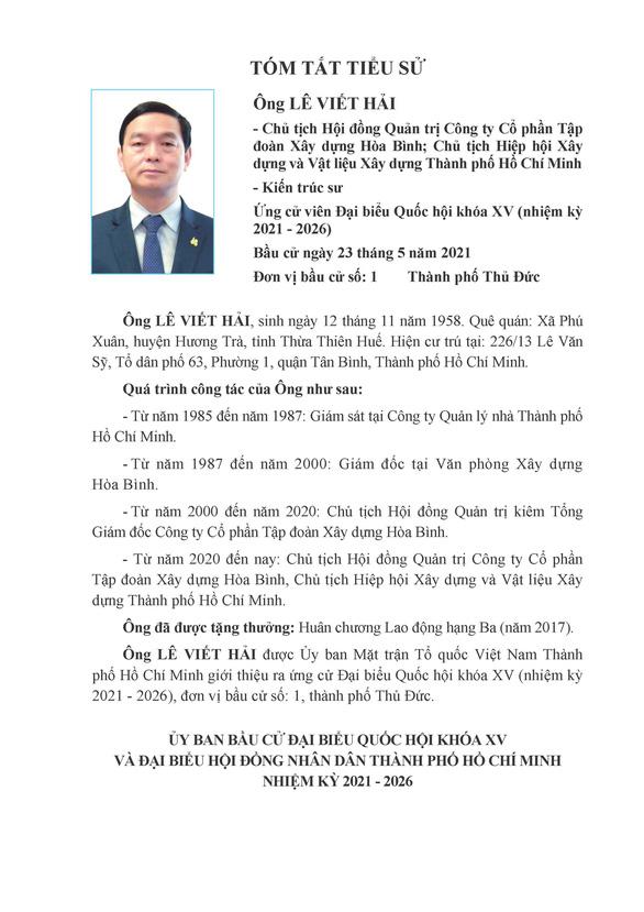 Danh sách 50 ứng cử viên ĐBQH khóa XV tại TP.HCM - Ảnh 1.