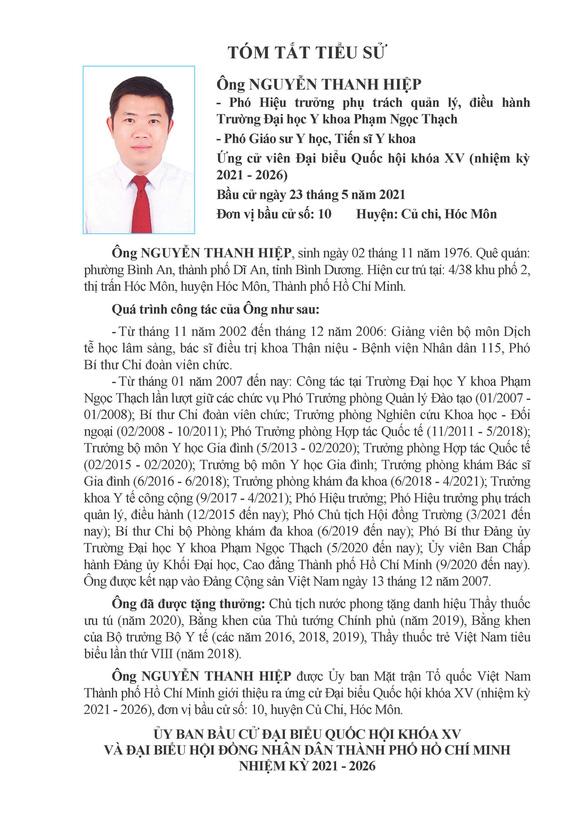 Danh sách 50 ứng cử viên ĐBQH khóa XV tại TP.HCM - Ảnh 93.