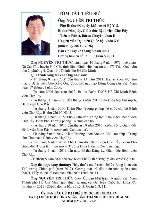 Danh sách 50 ứng cử viên ĐBQH khóa XV tại TP.HCM - Ảnh 27.