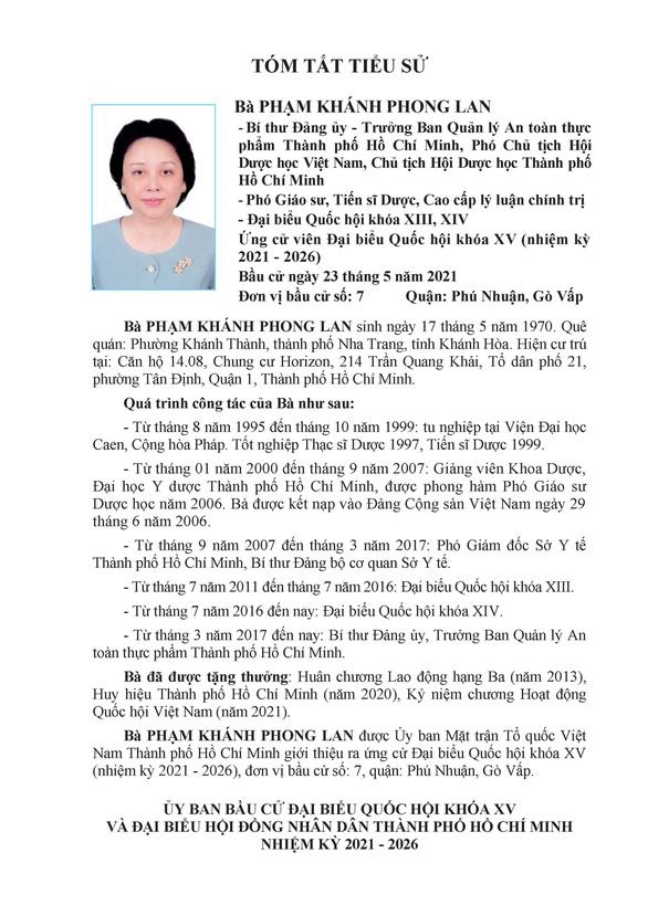 Danh sách 50 ứng cử viên ĐBQH khóa XV tại TP.HCM - Ảnh 63.