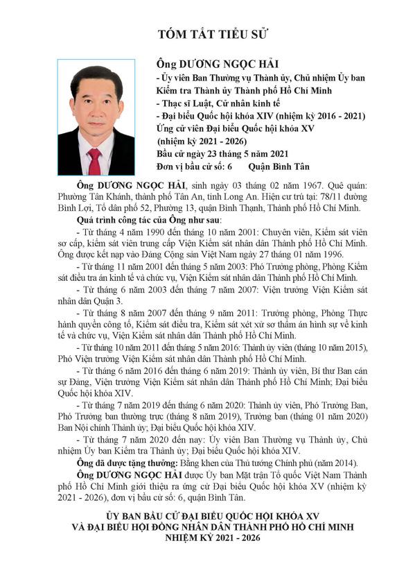 Danh sách 50 ứng cử viên ĐBQH khóa XV tại TP.HCM - Ảnh 51.