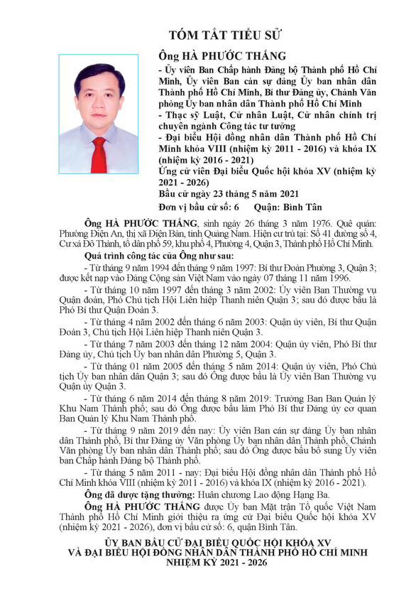 Danh sách 50 ứng cử viên ĐBQH khóa XV tại TP.HCM - Ảnh 57.