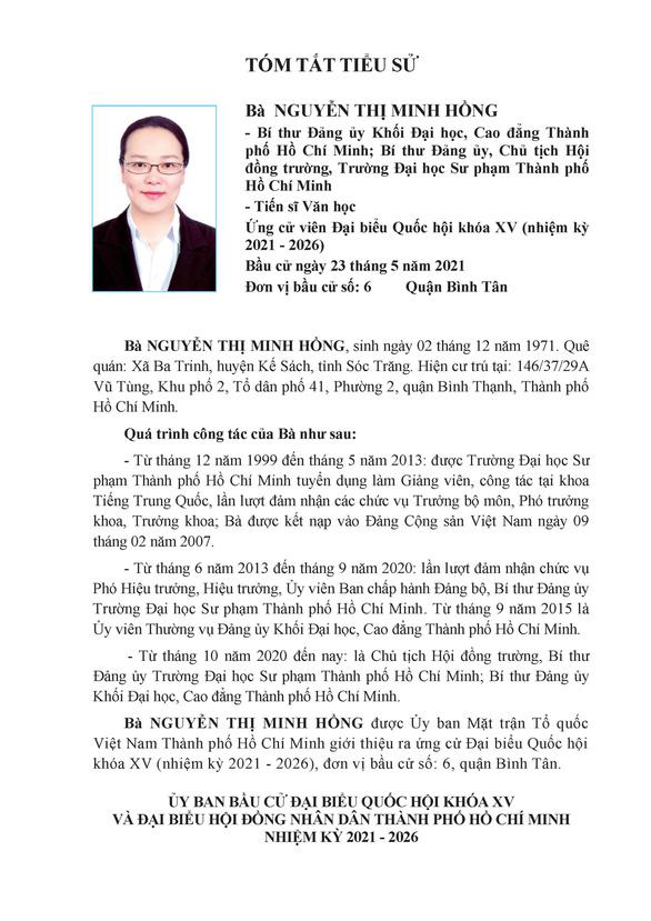 Danh sách 50 ứng cử viên ĐBQH khóa XV tại TP.HCM - Ảnh 53.