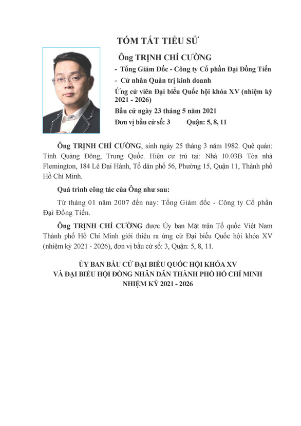 Danh sách 50 ứng cử viên ĐBQH khóa XV tại TP.HCM - Ảnh 21.