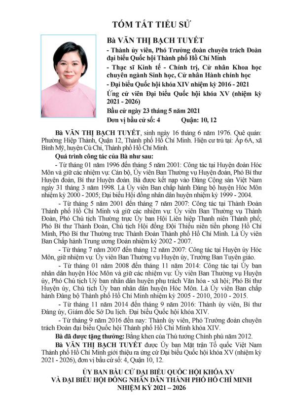 Danh sách 50 ứng cử viên ĐBQH khóa XV tại TP.HCM - Ảnh 35.