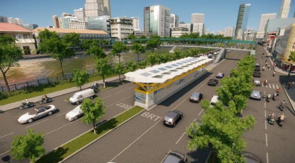 Tháng 9-2021 khởi công xây dựng tuyến xe buýt nhanh BRT đầu tiên ở TP.HCM - Ảnh 1.