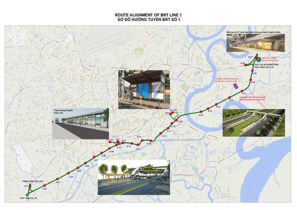 Tháng 9-2021 khởi công xây dựng tuyến xe buýt nhanh BRT đầu tiên ở TP.HCM - Ảnh 2.
