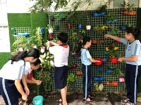 Vườn rau xanh mướt của học sinh tiểu học, phụ huynh nhìn thấy mua ngay - Ảnh 2.
