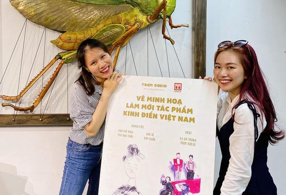 2 cô gái 9X của Trạm Radio góp gió cho văn học Việt - Ảnh 1.