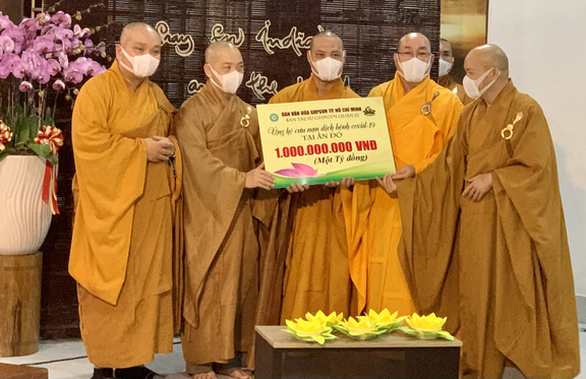 Tăng ni, phật tử TP.HCM ủng hộ Ấn Độ 1 tỉ đồng, chia sẻ nỗi đau vì dịch COVID - 19 - Ảnh 1.