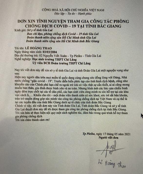 Từ Gia Lai, Đà Lạt... tình nguyện xin đi chống dịch ở Bắc Giang - Ảnh 1.