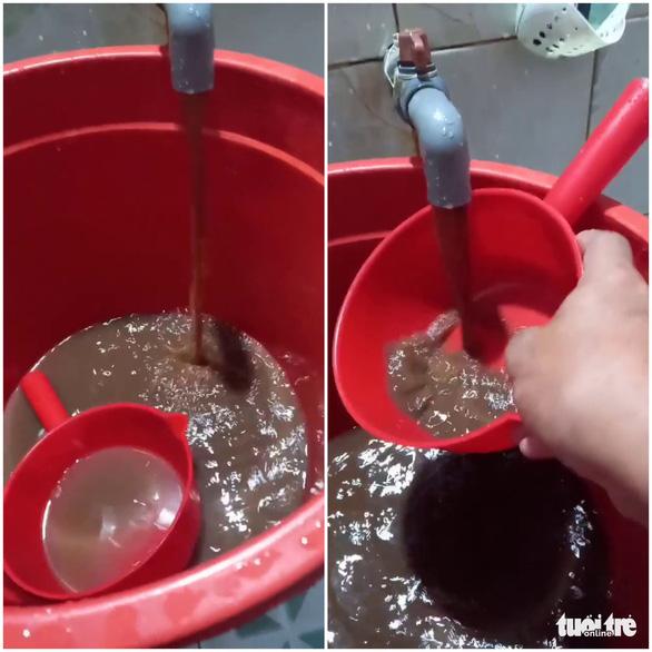 Nước sinh hoạt bỗng đục ngầu như cà phê sữa - Ảnh 6.