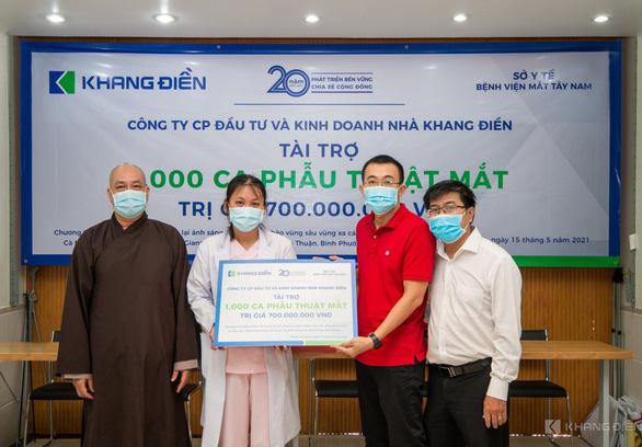 Khang Điền tài trợ chương trình phẫu thuật mắt cho 1.000 bệnh nhân - Ảnh 1.